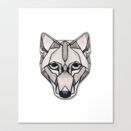 Edges (Wolf) Canvas Print