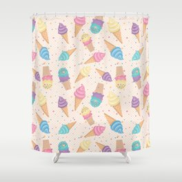 ice cream party Shower Curtain