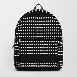 Spotted, Mudcloth, Black and White Print, Boho Wall Art Backpack