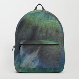 Tie Dye in Blue and Green 17 Backpack