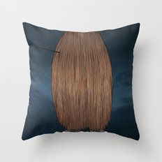 Hairy Potter Throw Pillow