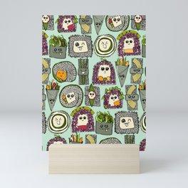 veggie sushi mint Mini Art Print