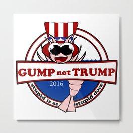 Gump not Trump Metal Print