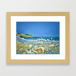 Close Wave!  Framed Art Print