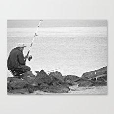 Fishing Alone Canvas Print