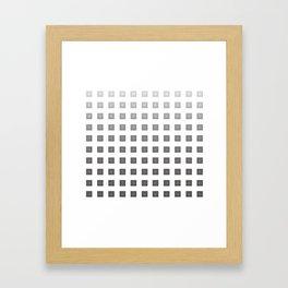 GRAY + WHITE Framed Art Print