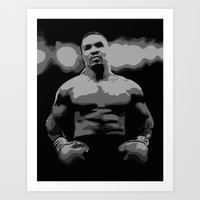 mike tyson Art Prints featuring Tyson by iankingart