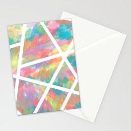 Rainbow Strokes Stationery Cards