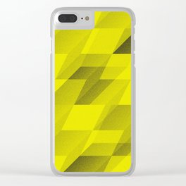 bent step - yellow Clear iPhone Case