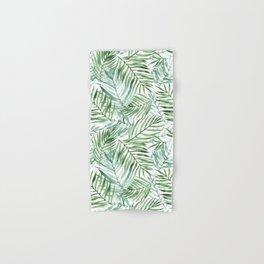 Watercolor palm leaves pattern Hand & Bath Towel