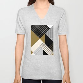 Lines and Shapes Unisex V-Neck