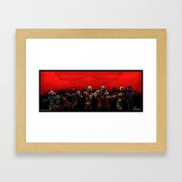 Zombie Horde Framed Art Print