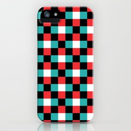 Pixeled Squares iPhone Case