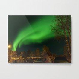 aurora borealis in the  north of sweden Metal Print