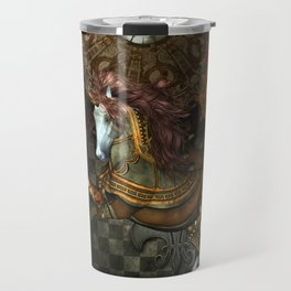 Steampunk,mystical steampunk unicorn Travel Mug