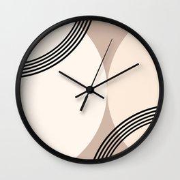 Minimal Abstract Circle Glam #1 #minimal #decor #art #society6 Wall Clock