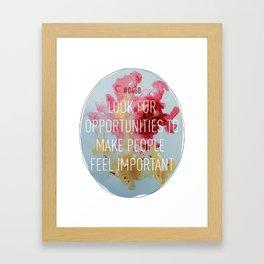 Important Opportunities Framed Art Print