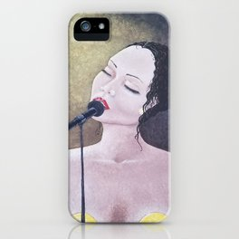 The Moment, Singing Woman Painting, by Faye iPhone Case