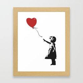Girl with Balloon - Banksy Graffiti Framed Art Print