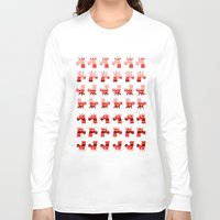 unicorns Long Sleeve T-shirts featuring Peppermint Unicorns by That's So Unicorny