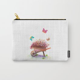 Flowers Cart Watecolor Carry-All Pouch