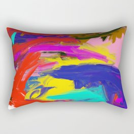 Rainbow Abstract II Rectangular Pillow
