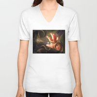 castle in the sky V-neck T-shirts featuring Castle In The Sky by Brandon Heffron