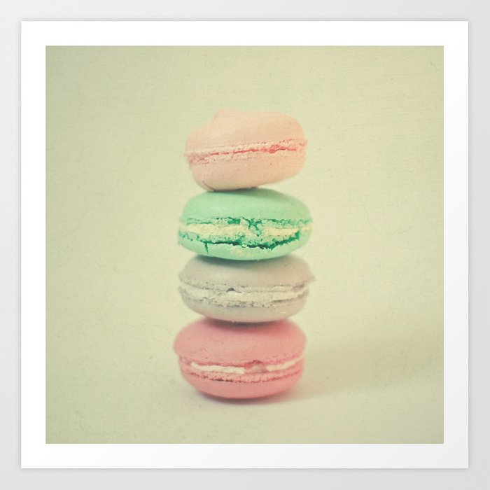 Four Macarons Art Print