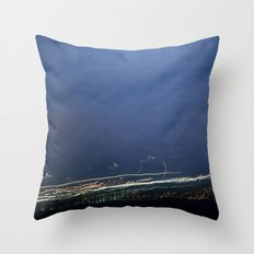 Moon Jump Sky Throw Pillow