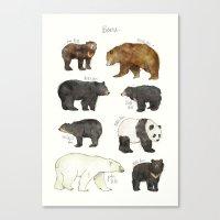 bears Canvas Prints featuring Bears by Amy Hamilton