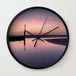Spring Sunset Wall Clock