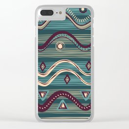 Swamp tribe Clear iPhone Case