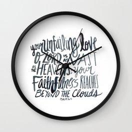 Psalm 36:5 Wall Clock