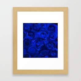 China Blue Rose Abstract Framed Art Print