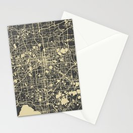 Orlando Map yellow Stationery Cards