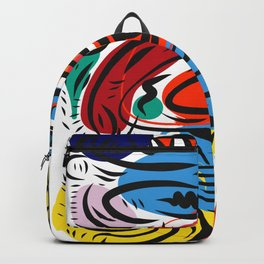 Joyful Life Abstract Art Illustration for Kids and Everyone Backpack