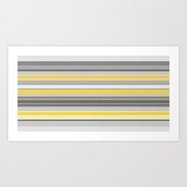 yellow and grey horizontal Art Print