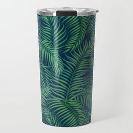 Night tropical palm leaves Travel Mug