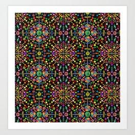 Candy Kaleidoscope Art Print