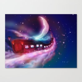A Trip to the Moon by Locomotive Canvas Print