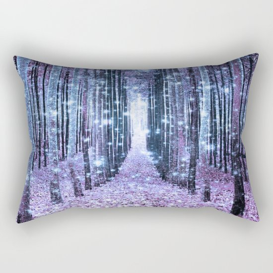 Magical Forest Lavender Ice Blue Periwinkle Rectangular Pillow