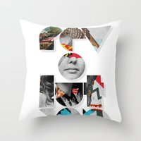 revolution Throw Pillows featuring revolution by Ali GULEC