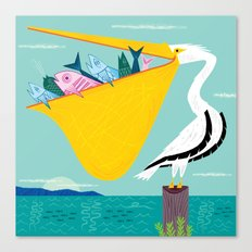The Greedy Pelican Canvas Print