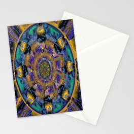 Purple Gold Dream Catcher Mandala Stationery Cards
