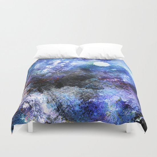 Winter Night Orchard Duvet Cover
