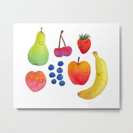 Fruit Friends Metal Print