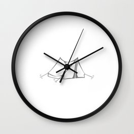 The Best Days are Spent Camping Adventure T-Shirt Wall Clock