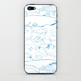 safe the ocean iPhone Skin