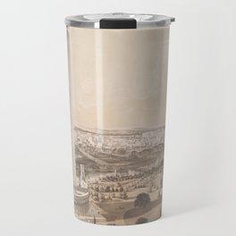 Vintage Pictorial Map of Washington DC (1852) Travel Mug