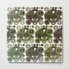 Ethereum, Bitcoin, Dash, Ripple, Litcoin Metal Print